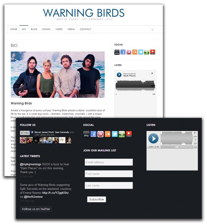 Mobile Website Design - Warning Birds