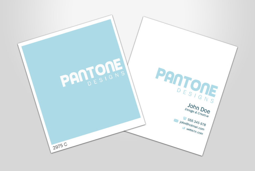 Pantone Designs Perth Business Card Design Go Modern Creative