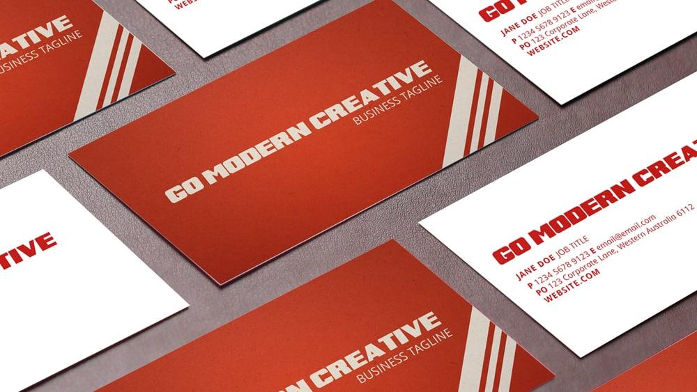 Retro Business Card Template Go Modern Creative