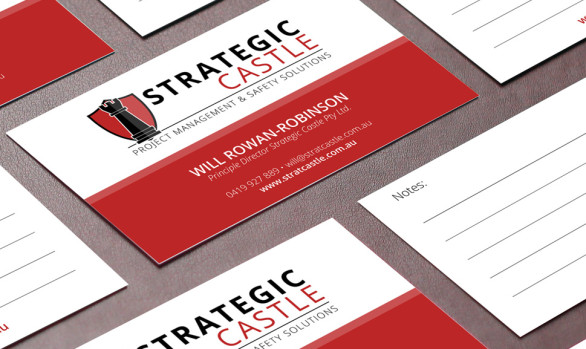 Strategic Castle - Business card mock up